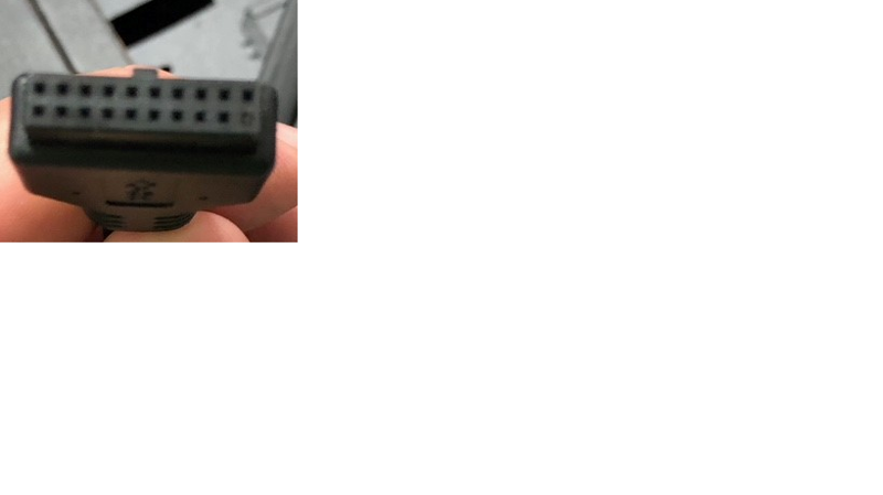 Front USB plug connector