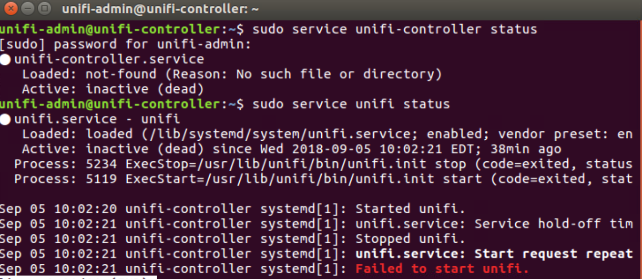 Unifi Controller on Ubuntu 16