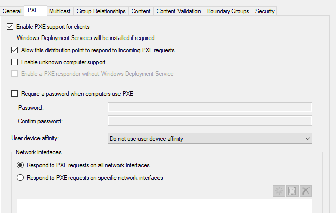 SCCM 2012 PXE boot problems