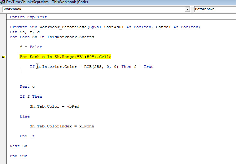 Run-time error '438'  Object doesn't support this property or method  on yellow line in image