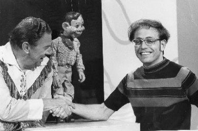 Rowby meets his childhood hero, Buffalo Bob, and Howdy Doody when they visited NBC.