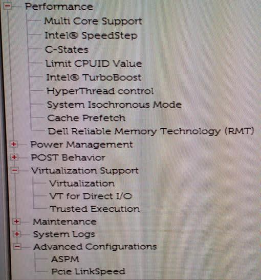 BIOS settings 2