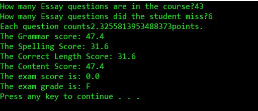 grade and score error