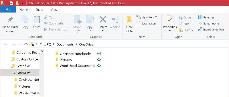 Clicking on Open Your Onedrive Folder from Onedrive White Cloud Icon in Taskbar U see this