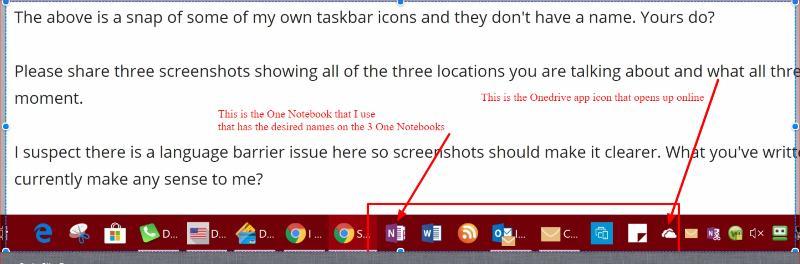 Taskbar Icons-Onenote Notebook, Onedrive