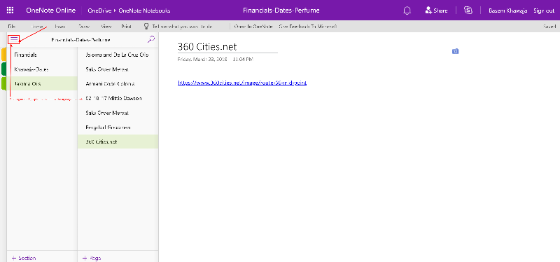 Financials Notebook opened in onedrive before Mystery notebook shows up Image #3