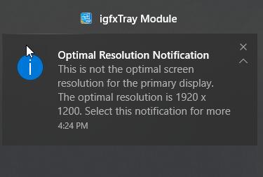 error message when flickers