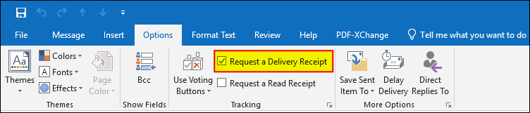 Delivery Receipt in Outlook
