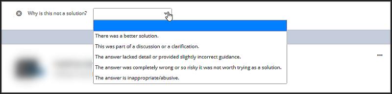 Not Helpful Reasons