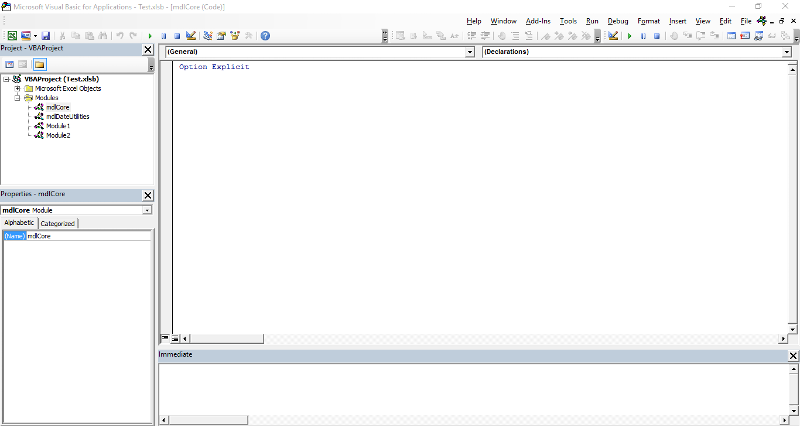VBE ScreenShot