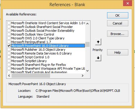 ...showing selection of PowerPoint reference library...