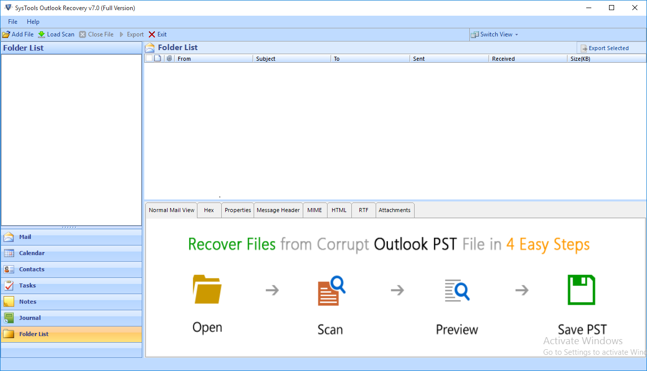 How to Repair Corrupt PST File in Outlook 2016, 2013, 2010