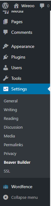 Could not find it. Under settings.
