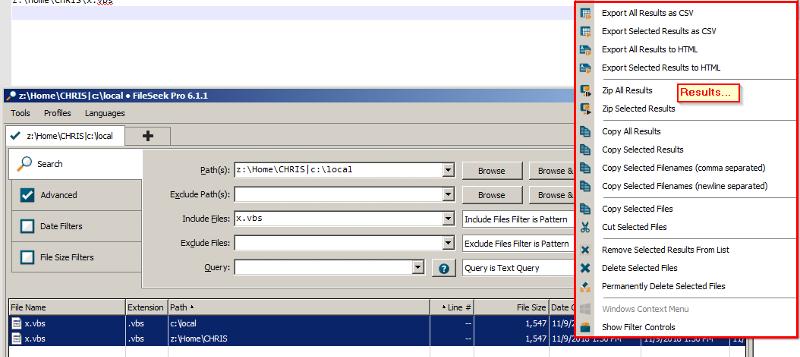 FileSeek Example