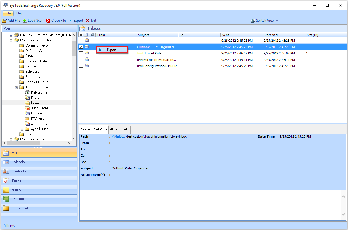 Recover Exchange Mailbox from Public EDB File - SysTools