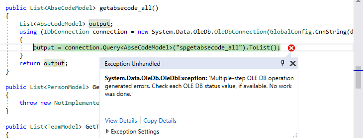 How Do i Resolve Message=Multiple-step OLE DB operation