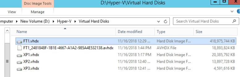 Virtual Hard Disk Folder