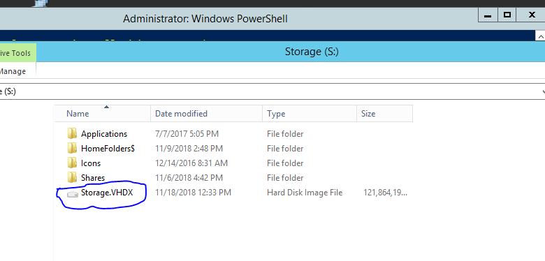 Files in VHDx Virtual Machine volume