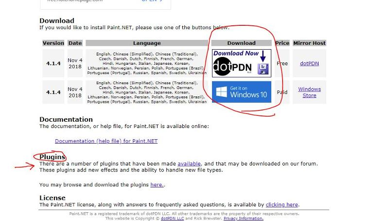 Paint Net Download link