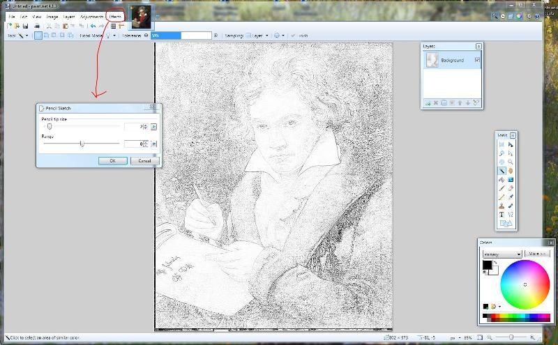 Paint Net Pencil Sketch