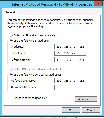 IP and Dns Settings