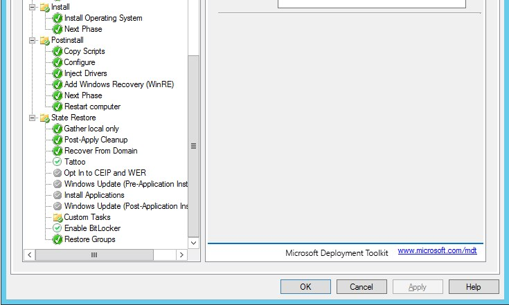 Mdt Blank Screen