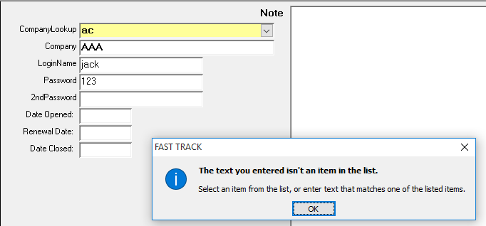Lookup Error when search value is not found