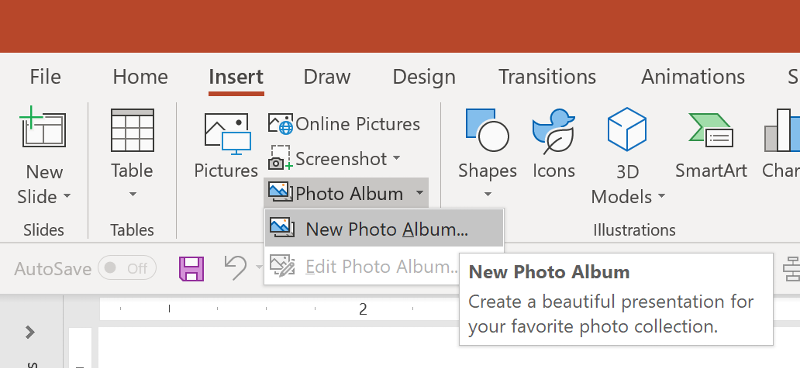 PowerPoint Insert Photo Album