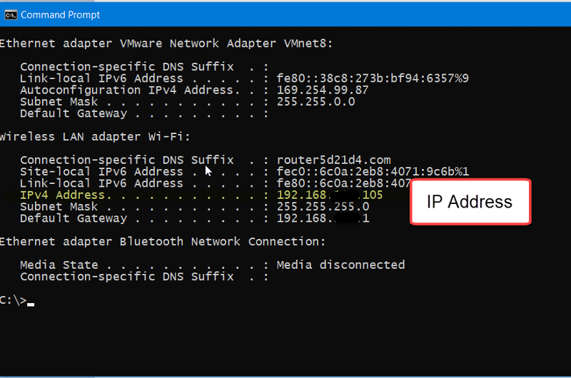 Windows IP Address