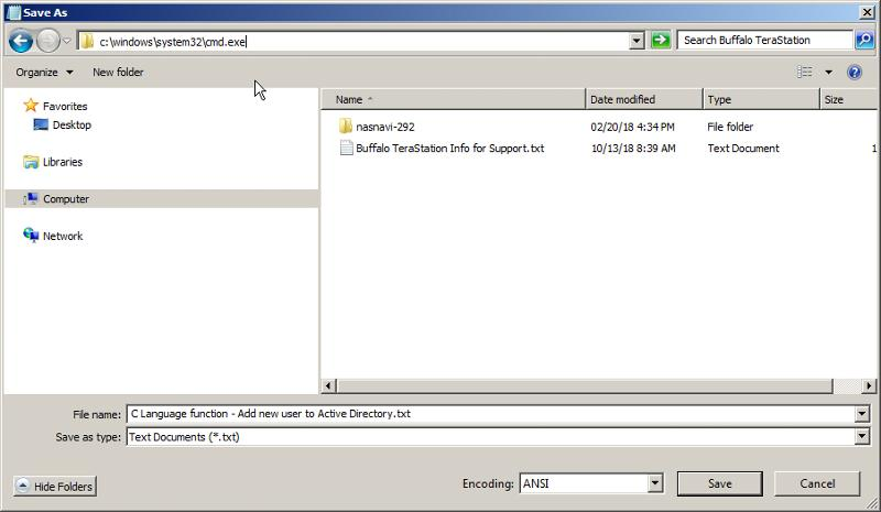 Save As dialog box with user-entered text...