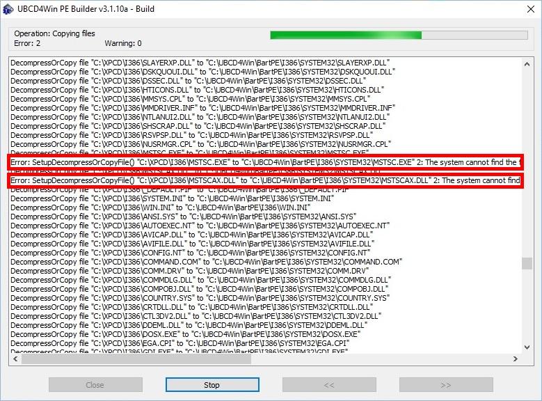 errors-found-in-UBCD4Win-Builder