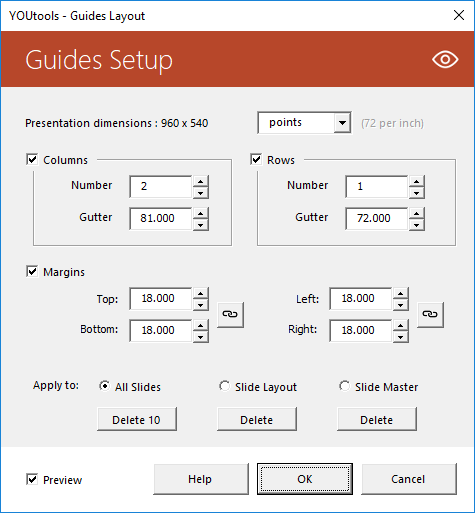 Guides Setup for PowerPoint
