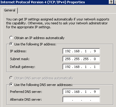 TCPIP setting on SBS2011