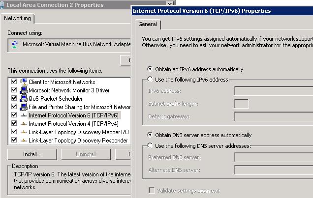 IPv6 Settings
