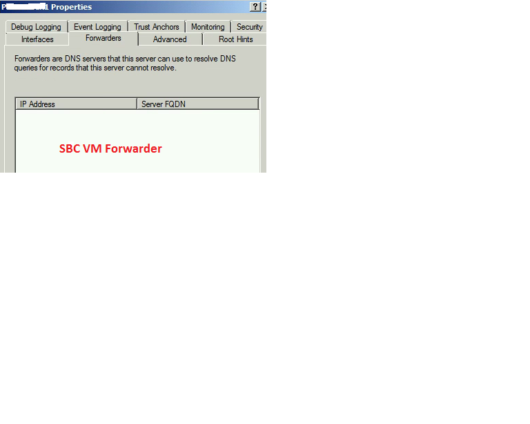 SBS VM Forwarder