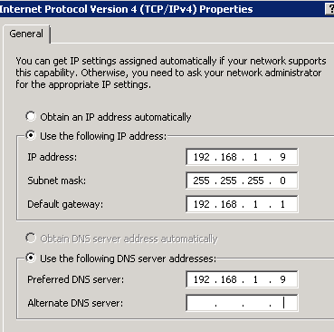 SBS VM - without 2nd DNS server