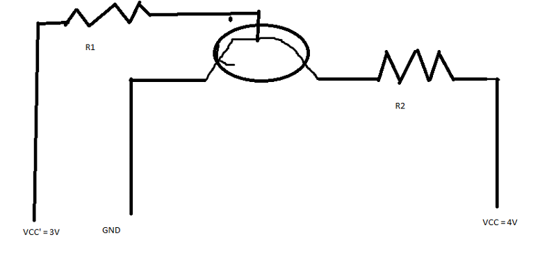 The circle with the arrow is an npn transistor