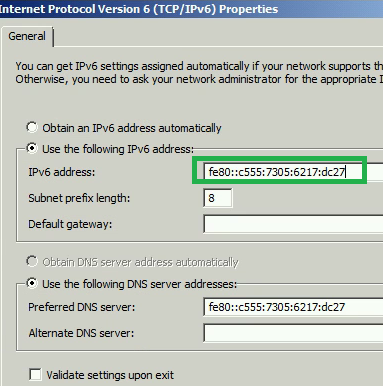 IPv6 address in TCP/IP