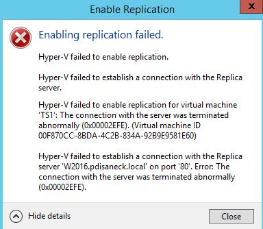 Replication Error