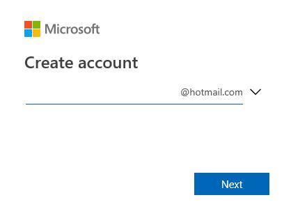 Create test hotmail.com screenshot.