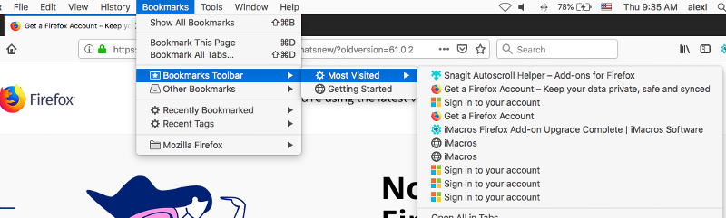 How Do I Turn Most Visited Sites Back On?