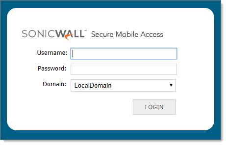 SonicWall SMA 200: Turn off external login web page