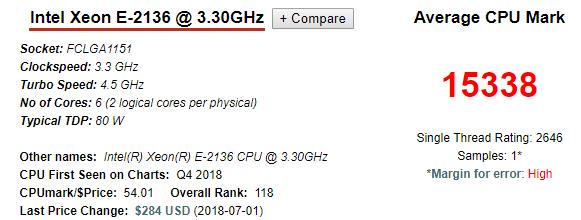 Xeon E2136