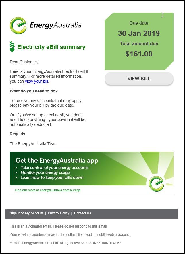 EnergyAustralia Scam
