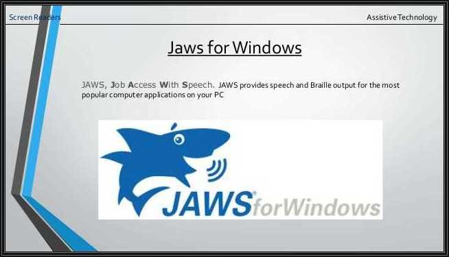 Jaws for Windows Snapshot