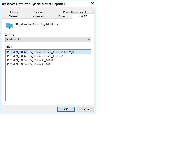 Broadcom Hardware ID