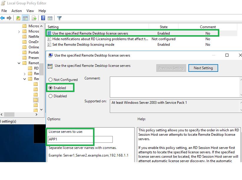 Setting up Remote Desktop Service / Terminal Server