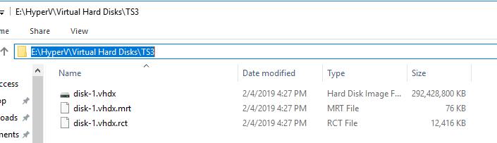 Shrinking VHDX file in 2016 Hyper-V Server