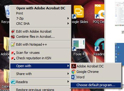 Windows 10 Default Applications