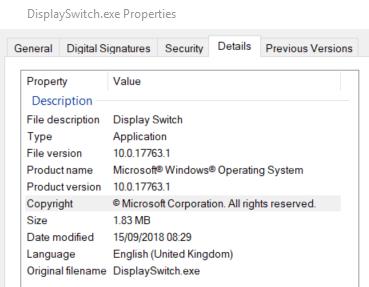 Win+P shortcut not working in Windows 10
